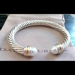 NWOT DAVID YURMAN 14K/ Sterling 7mm Cable Bracelet